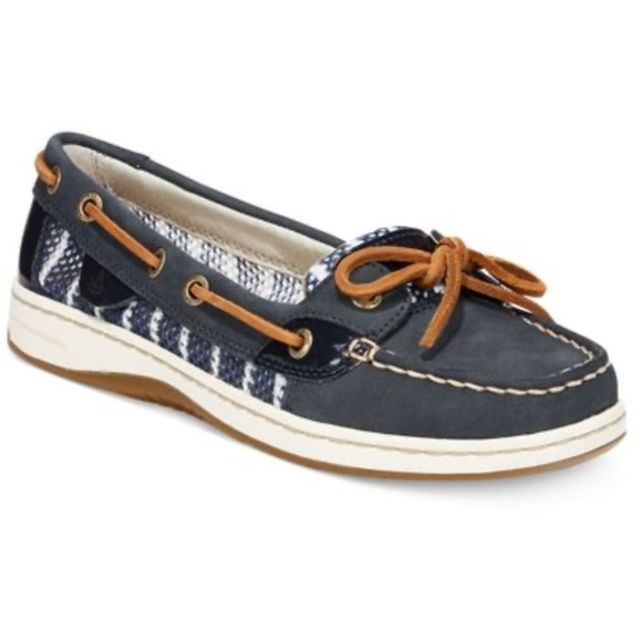 Angelfish Breton Stripe Mesh Boat Shoe